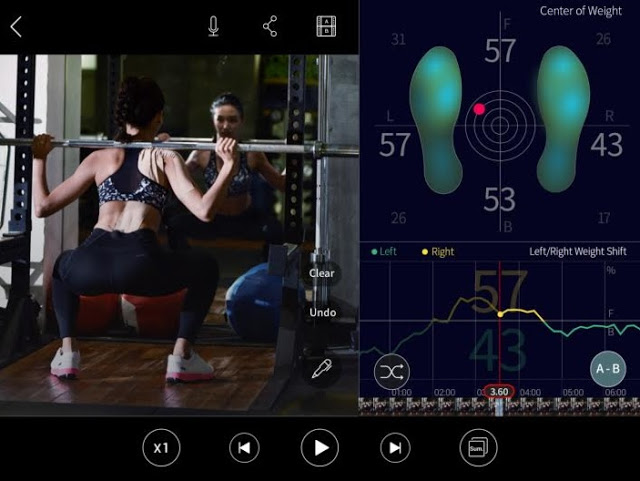 Exercise with IOFIT smart shoe