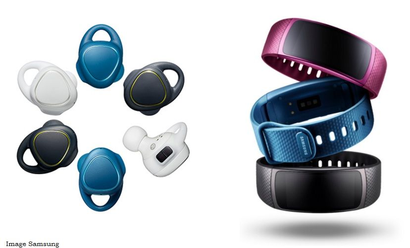 Samsung Gear Fit2 Fitness Tracker and the Gear IconX Truely Wireless Earbuds