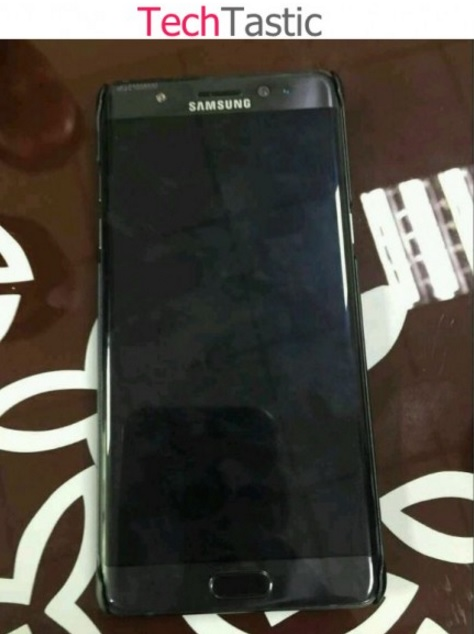 Actual Image of Galaxy Note 7 with Curved Display