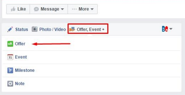 Creating Facebook Offers