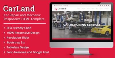 CAR LAND- Responsive HTML Template