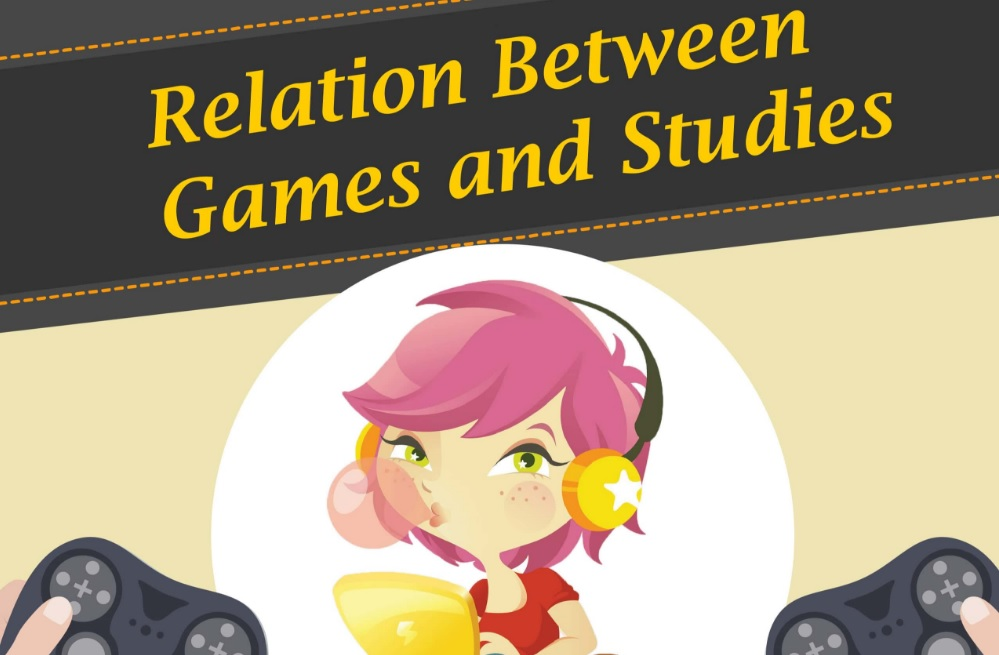 Relation Between Games and Studies: Infographic
