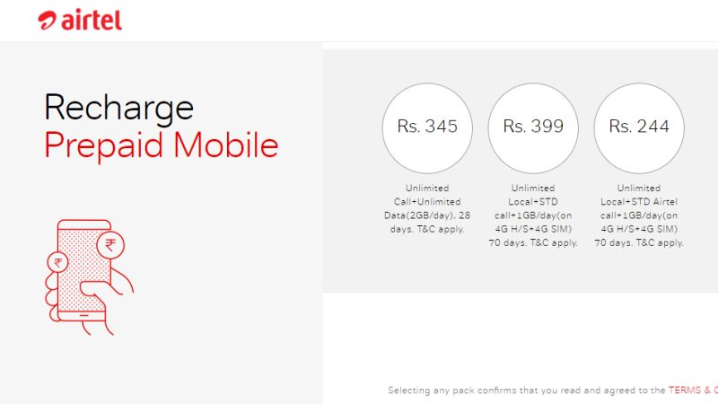 Airtel Offers 70GB Data