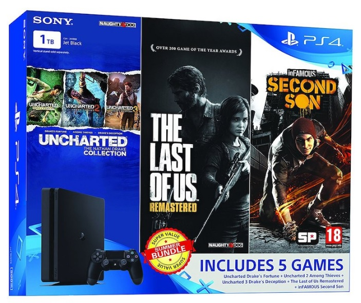 Amazon India Listed Sony PS4 Slim 1TB Summer Value Bundle with 5 Games