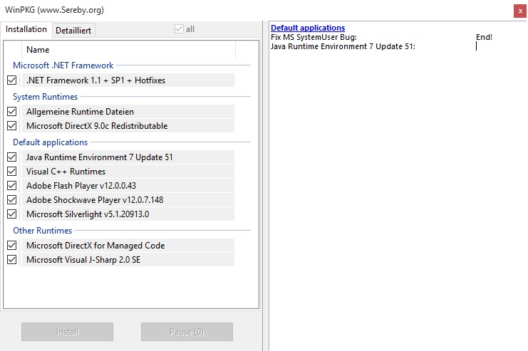 Installing AIO210 Runtime