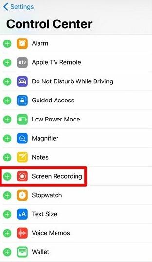 Enable Screen Recording in iOS 11 Beta 1