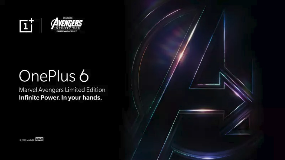 OnePlus 6 x Marvel Avengers Limited Edition