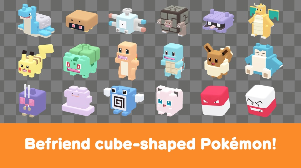 cube-shaped Pokémon buddies