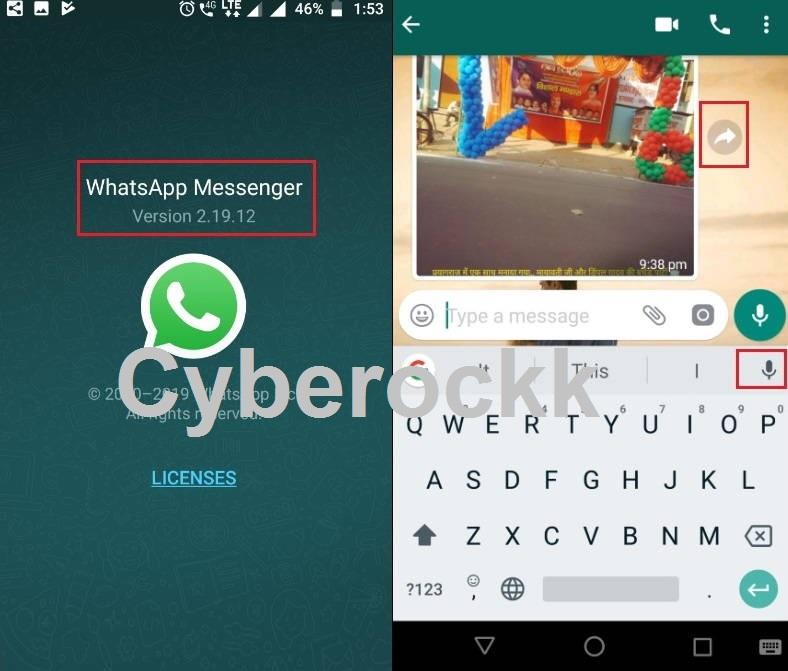 WhatsApp 2.19.12 Update