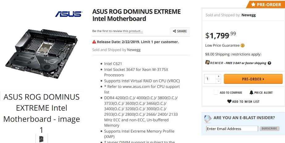 ASUS ROG Dominus Extreme Motherboard
