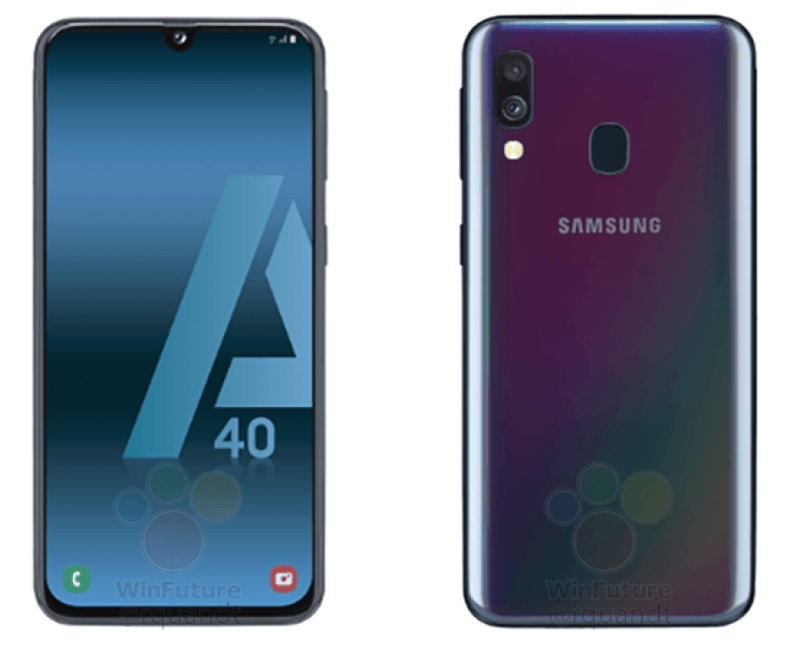 Galaxy A40 Render image