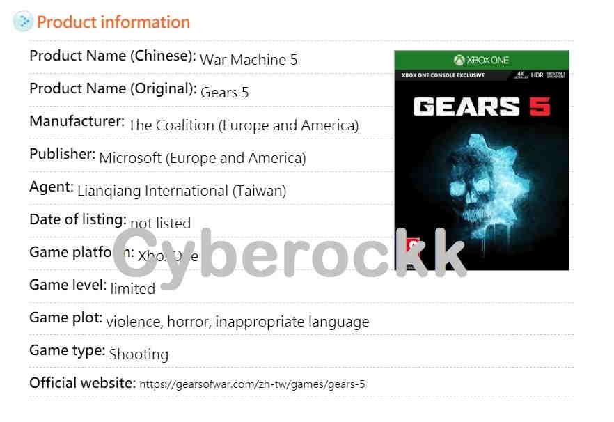 Gears of War 5 Release date