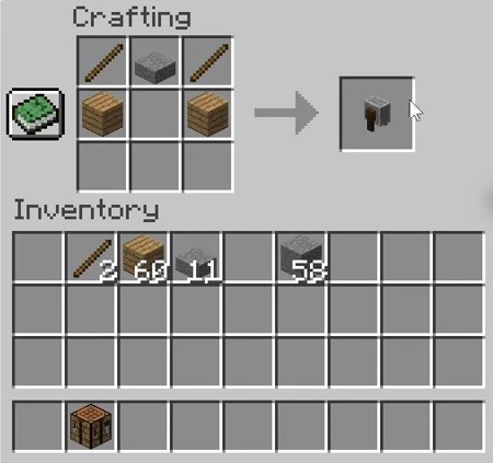 Grindstone crafting