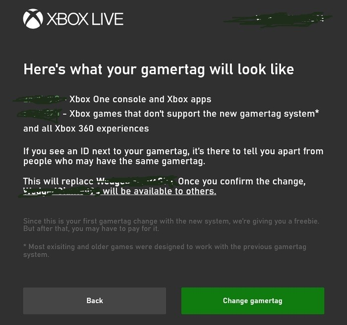 change the gamertag
